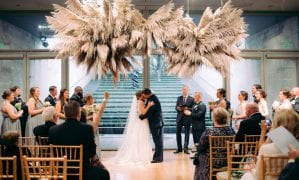 Fall Garden Wedding at The Nasher Sculpture Center